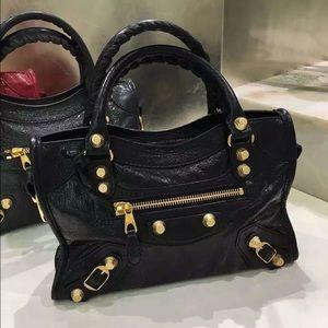Balenciaga Handbags - Balenciaga Edge City Mini Goatskin Satchel in Noir