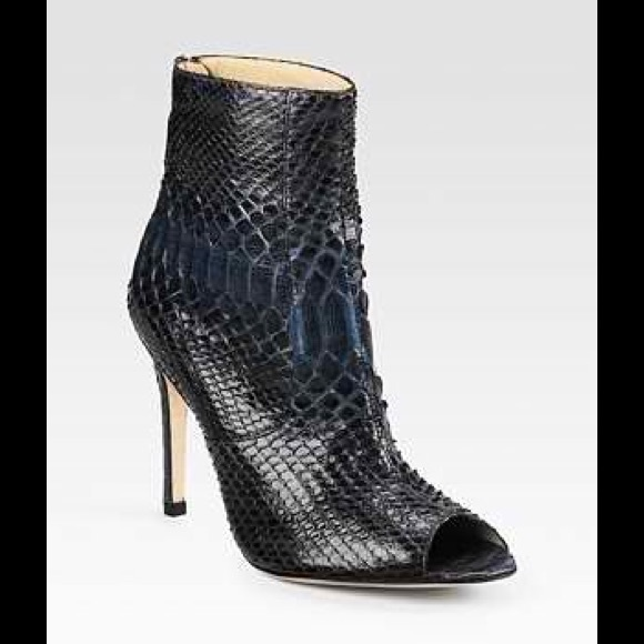 Alexandre Birman Python Peep-Toe Ankle Boots low shipping for sale Ce8xd