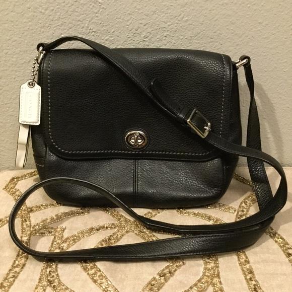 Coach Handbags - Coach Park Leather Violet Cross Body Black Emerald 22b0c15b74419