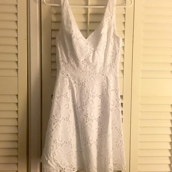 b3f4291fc4ad14 Lilly Pulitzer Dresses & Skirts - Lilly Pulitzer Marla V-Neck Eyelet Dress