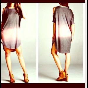 FashionBohoLoco Dresses & Skirts - Ombre Dip Dye Cape Tunic T Shirt Slip Dress NWOT