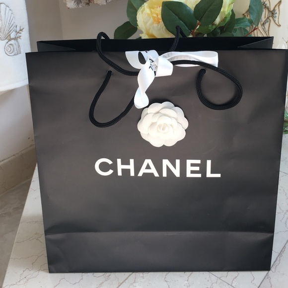 chanel bags shopping bag with ribbon camelia poshmark