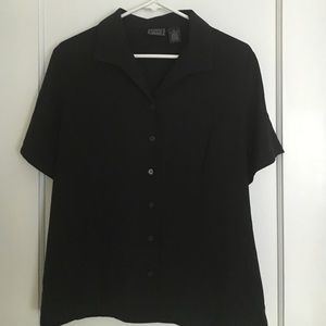 Tops - Black button down