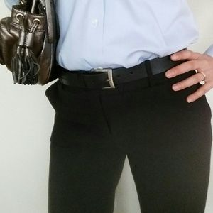 Worthington Black Dress Pants (Size 6S) w/earrings