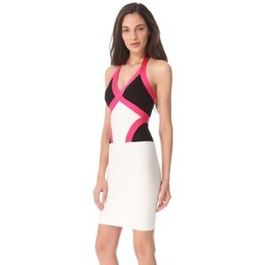 Herve Leger Dresses & Skirts - HERVE LEGER ANDIE COLORBLOCKED BANDAGE DRESS