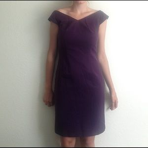 3bbf4ca51c02 Dresses - dark purple off the shoulder dress