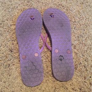 Victoria's Secret Shoes - Victoria Secret purple flip flops