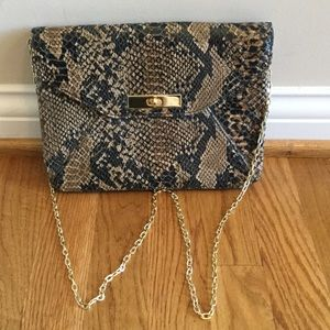 Tan Snakeskin Crossbody Bag from Banana Republic