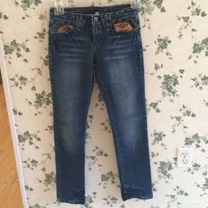 Apollo Jeans Denim - Apollo Jeans with Faux Suede Accents and studs 1/2
