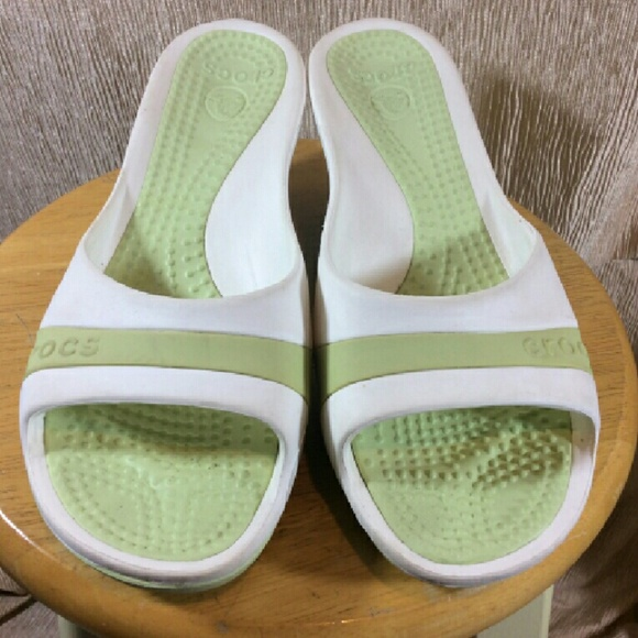 4aa86067e CROCS Shoes - Crocs Wedge Slides   Sandals ~ SASSARI ~ Green