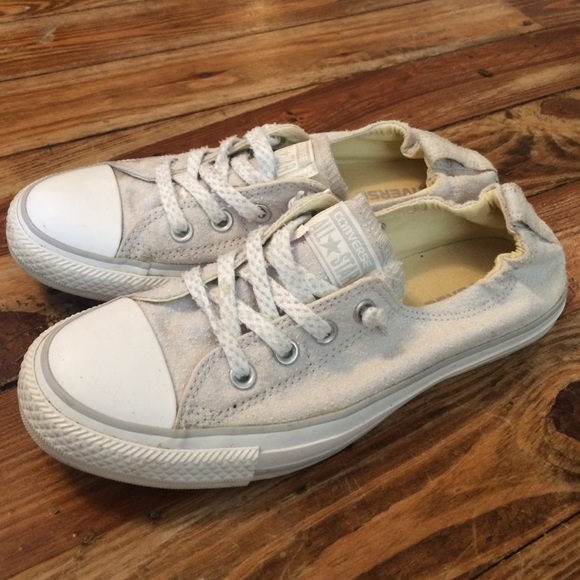 8bc8ac60948b Converse Shoes - Light gray shoreline converse size 8.5