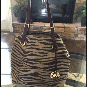 Michael Kors Gold Zebra Grab Bag-New