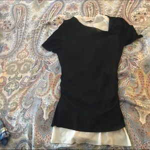 Sheer Sweet Pea top with side rouge