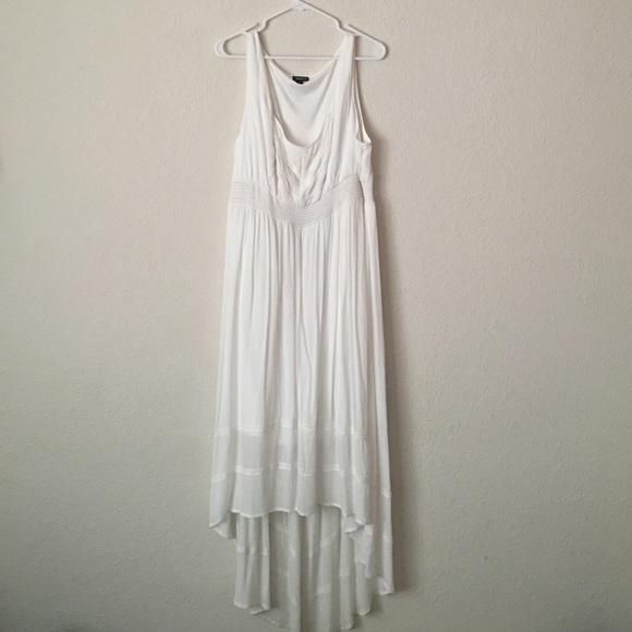 Torrid Dresses White Highlow Dress Poshmark
