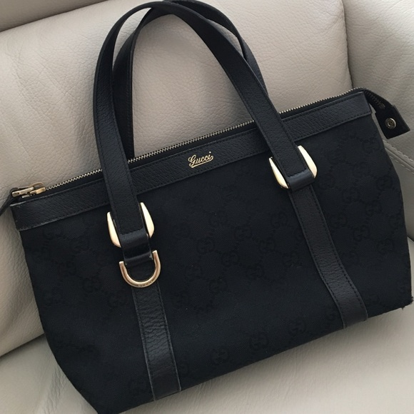 5af2e18ec3e4 Gucci Bags | Gg Logo Canvas Abbey Tote Bag | Poshmark