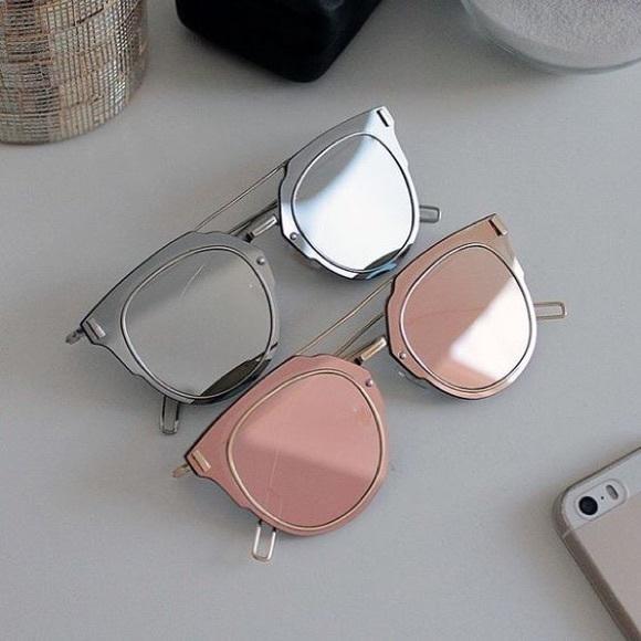 381bc9315002 Accessories | Nwt Rose Gold Mirrored Composit 10 Sunglasses | Poshmark