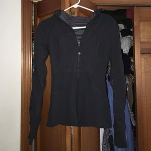 Black hoodie lulu lemon jacket