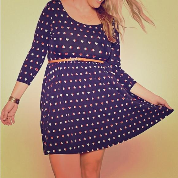 Forever 21 Dresses Plus Size Heart Mini Dress Poshmark