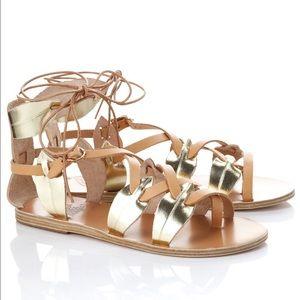 Ancient Greek Sandals  Shoes - Ancient Greek Natural Platinum Filareskia Sandals