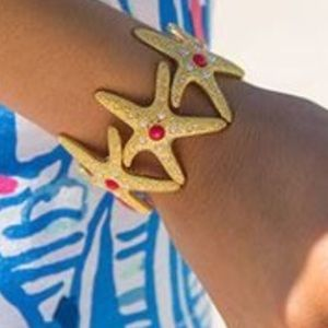 NWT LILLY PULITZER STARFISH GOLD BRACELET