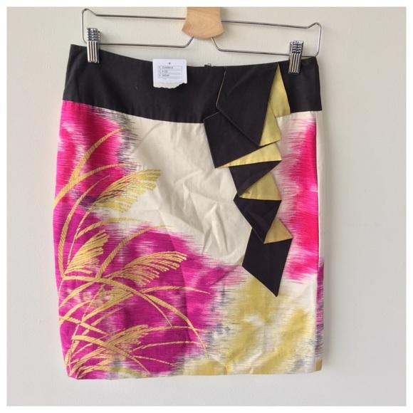 Anthropologie Skirts Anthropology Floreat Origami Pencil Skirt