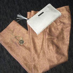 J Crew collection metallic pants size 6