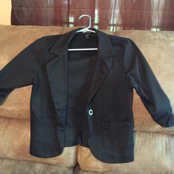 80% off Jackets &amp Blazers - Black Dressy Jacket from Stacy&39s