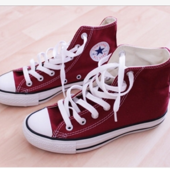 Converse Shoes | Maroon High Top