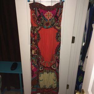 F21: Strapless Maxi Dress