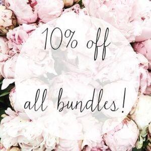 Save a bundle, get a bundle! 10% off, 1 ship price