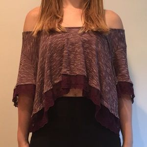 UO cropped blouse.