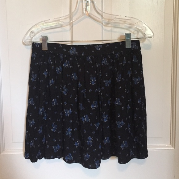 58% off American Eagle Outfitters Dresses & Skirts - American Eagle Outfitters Blue Floral Skirt ...