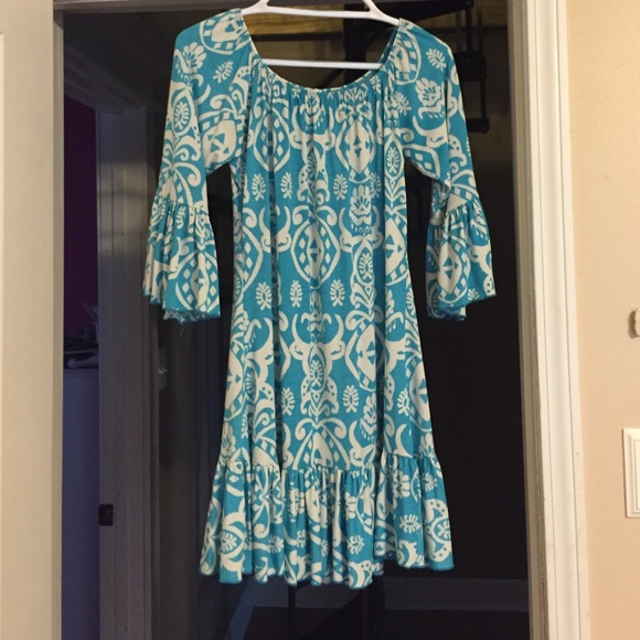 50% off 2B Together Dresses & Skirts - Blue & White Comfy Dress ...