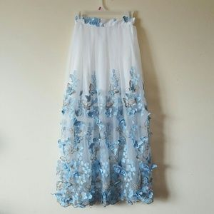 Dresses & Skirts - ✨🦋Embroidery 🦋 butterfly 🦋 Long Skirt