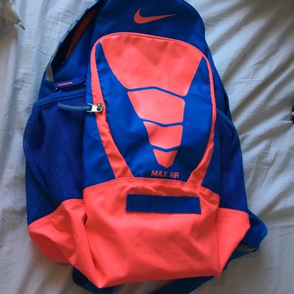 nike air backpack orange