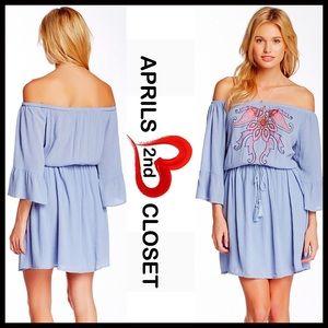 Flying Tomato Dresses & Skirts - ❗1-HOUR SALE❗BOHO DRESS Off The Shoulders Mini