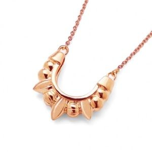 Pamela Love Jewelry - Pamela Love Pink Mini Spike Pendant In Rose Gold