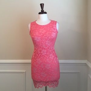NEW Very Sexy Lace Pink Dress