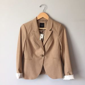 The Limited Jackets & Blazers - | The Limited | Beige Polyester Viscose Blazer