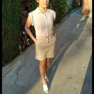 Armani Exchange Dresses & Skirts - A X shirt dress light gray khaki skirt shirtdress