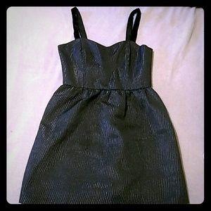 Jack Formal Black Dress w/ Velvet Straps