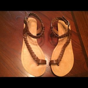 Braided brown sandals. Brand NEW!!