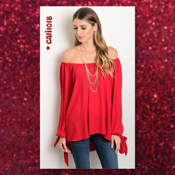 a51c2a82528734 ALMOST GONE🆕Burgundy Open Sleeve Off Shoulder TOP