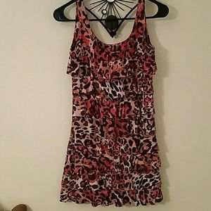 Adorable and fun leopard ruffle dress
