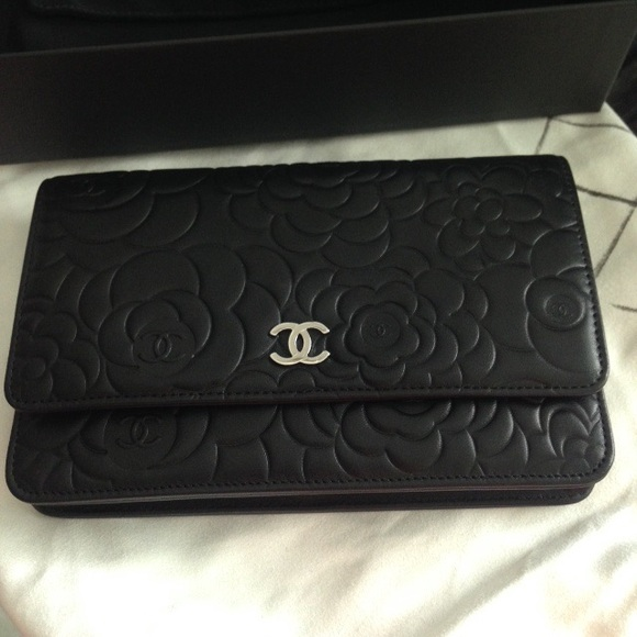260401cc6ced Chanel Bags | Wallet On Chain Camellia Embossed Lambskin | Poshmark
