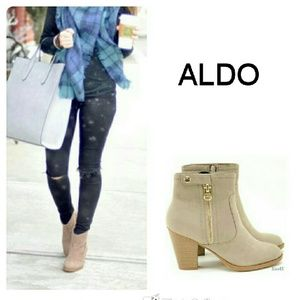 Nude suede Aldo ankle boots