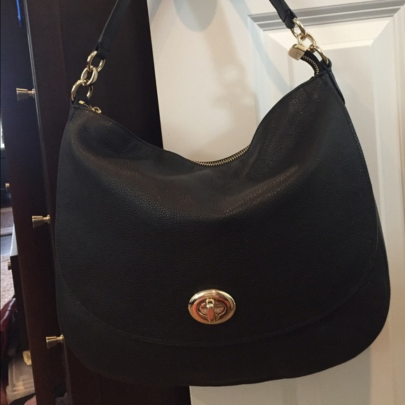 france coach turnlock leather hobo 83285 177ce 0650ad46f1dcd
