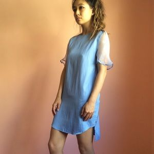 3.1 Phillip Lim Dresses & Skirts - 3.1 Phillip Lim Runway French Blue Silk Shirtdress