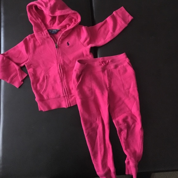 Polo Ralph Lauren toddler girl s sweatsuit. M 579015165c12f83bf300117b 4ebbf06e1db4