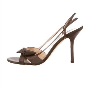 Kate Spade Chocolate Brown Party Heels With Bows